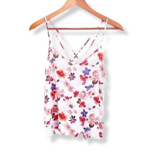 HOLLISTER Floral Sphagetti Strap Cami Tank Top